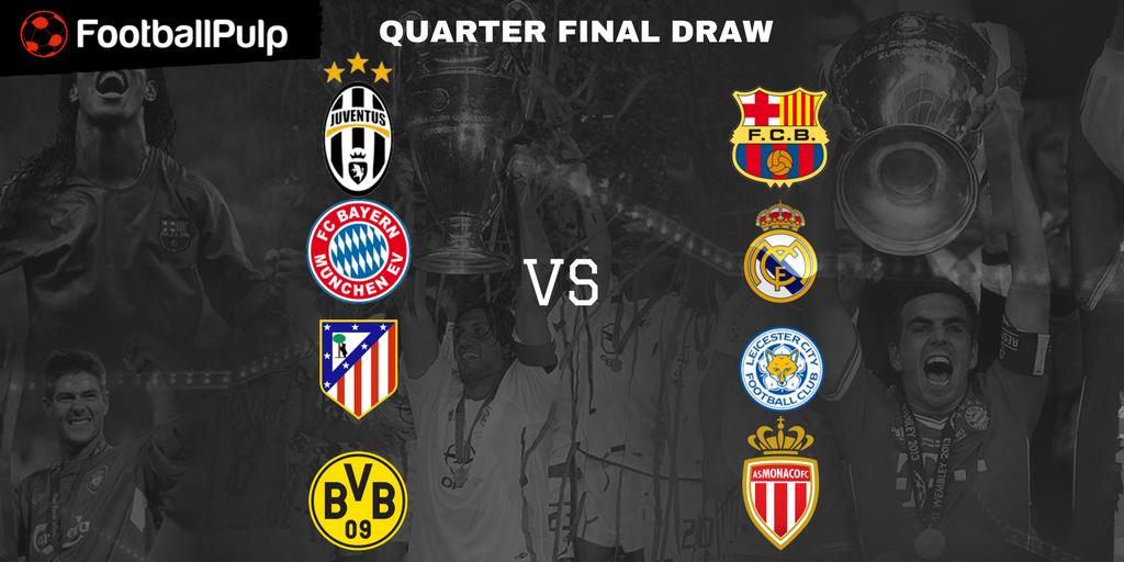 UCL quater finals schedule