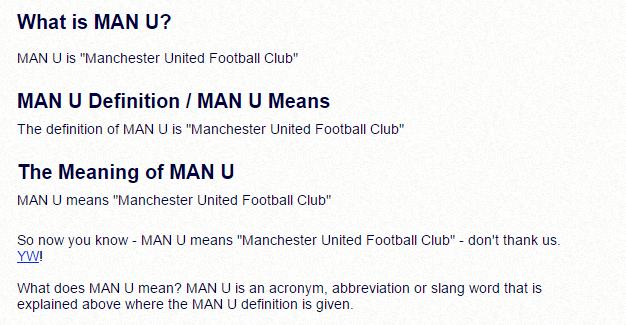 meaning abbreviation utd