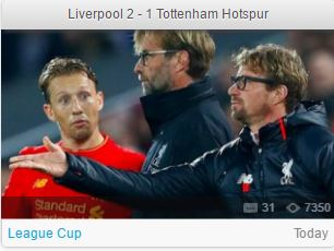 VIDEO Liverpool 2 - 1 Tottenham Hotspur Highlights - FootyRoom