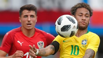 Austria  0 - 3  Brazil