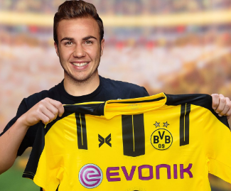 Germany forward Mario Gotze has returned to Borussia Dortmund from Bayern Munich on a four-year contract.