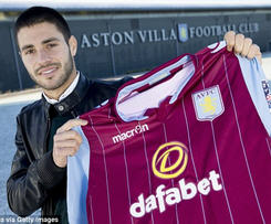 Aston Villa have signed midfielder Carles Gil from Valencia for £3.2m on a four-and-a-half-year deal.