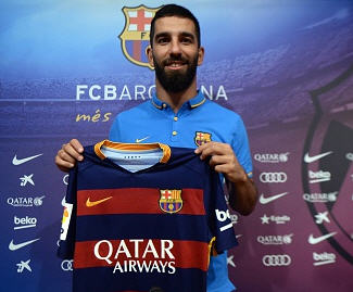 Barcelona have signed the Turkey captain, Arda Turan, on a five-year contract from Atlético Madrid for an initial fee of €34m.