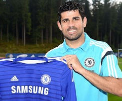 Atletico Madrid striker Diego Costa has completed his transfer to Chelsea on a five-year deal.