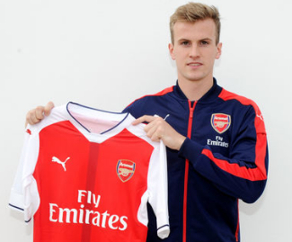Rob Holding has joined Arsenal from Bolton for an undisclosed fee, signing a long term contract.