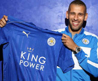 Islam Slimani has signed for Leicester City from Sporting Lisbon.