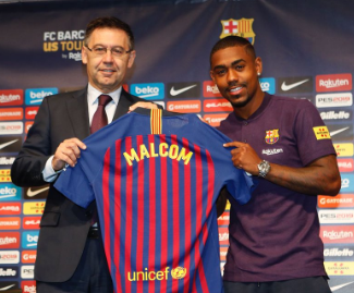 Barcelona have agreed a deal to sign Malcom from Bordeaux for an initial €41 million.
