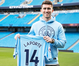 Aymeric Laporte has joined Man City from from Athletic Bilbao for a club-record fee of £57m.