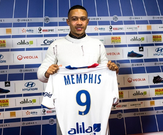 Lyon have just confirmed the signing of Man Utd midfielder Memphis Depay.