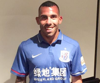 Carlos Tevez signs for Shanghai Shenhua in deal worth £615,000 a week.