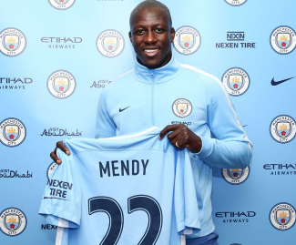 Manchester City have announced the signing of left-back Benjamin Mendy for £49.2m on a five-year deal.