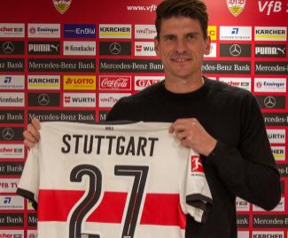 Mario Gomez has rejoined former club Stuttgart from Bundesliga rivals Wolfsburg.