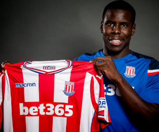 Stoke City have signed defender Kurt Zouma on a season-long loan from Premier League champions.