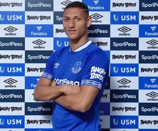 Everton have signed Brazilian winger Richarlison from fellow Premier League side Watford in a initial £40m deal.