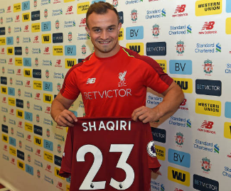 Liverpool have signed Switzerland forward Xherdan Shaqiri from Stoke City on a five-year deal, after triggering his £13m release clause.