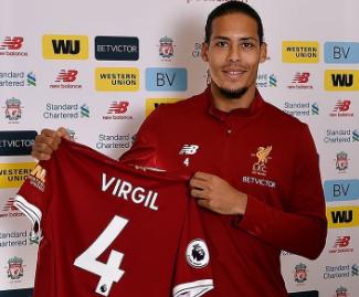 Liverpool confirm world-record £75m deal for Virgil van Dijk.
