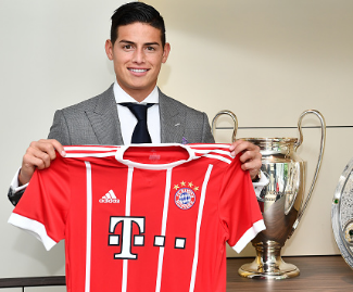 Bayern Munich have signed James Rodriguez from Real Madrid in a two-year loan deal.