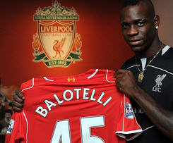 Italy striker Mario Balotelli has completed his £16m move to Liverpool from Serie A side AC Milan.