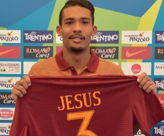Roma have completed the signing of centre-back Juan Jesus from Inter on a one-year loan deal.