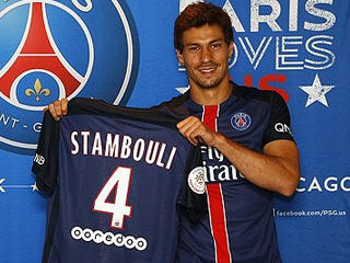 Paris Saint-Germain have announced the signing of the midfielder Benjamin Stambouli from Tottenham on a five-year contract.