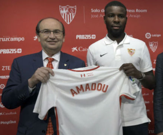 Sevilla have completed the signing of Lille defender Ibrahim Amadou on a four-year deal.