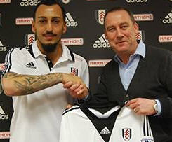 Fulham announced the signing of Greece international Konstantinos Mitroglou on a four-and-a-half year deal.