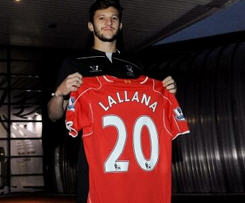 Adam Lallana completes £25m move to Liverpool from Southampton.