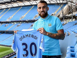 Manchester City have completed the signing of Nicolas Otamendi on a five-year deal from Valencia for a reported fee of £31.7 million.