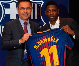 Barcelona have completed the signing of Ousmane Dembele for a fee of €105 million plus add-ons. He joins on a five-year deal.