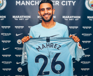 Manchester City have announced the signing of Riyad Mahrez for £60m on a five-year contract.
