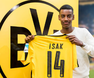 Borussia Dortmund sign Sweden sensation Alexander Isak after 17-year-old rejects Real Madrid move.