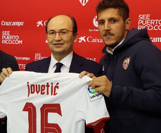 Stevan Jovetić has joined Sevilla from Inter on loan until the end of the season.