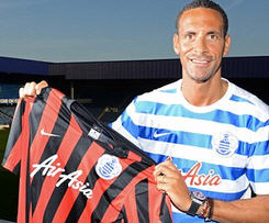 Rio Ferdinand joins Queens Park Rangers on free transfer from Manchester United.