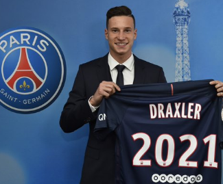Paris Saint-Germain sign Julian Draxler on four-and-a-half-year deal.