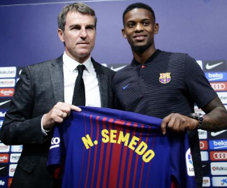 Benfica right-back Nelson Semedo has completed his €30 million move to Barcelona following a successful medical.