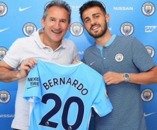 Manchester City have completed the signing of Monaco playmaker Bernardo Silva.