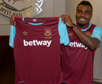West Ham have confirmed the signing of the Nigeria forward Emmanuel Emenike from Fenerbahce on loan for the rest of the season.
