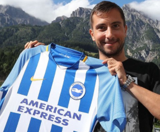 Brighton have signed Austria international left-back Markus Suttner from Ingolstadt for an undisclosed fee.