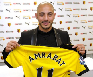 Watford sign forward Nordin Amrabat, capped 23 times by Morocco, from Spanish side Malaga.