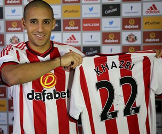 Sunderland have announced the singing of Bordeaux attacking midfielder Wahbi Khazri.