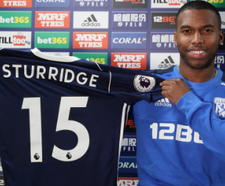 Daniel Sturridge has joined West Brom on loan from Liverpool for the rest of the season.