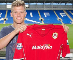 Cardiff City sign Denmark's Andreas Cornelius.