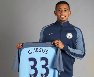 Gabriel Jesus has signed for Manchester City from Brazilian club Palmeiras for £27m.