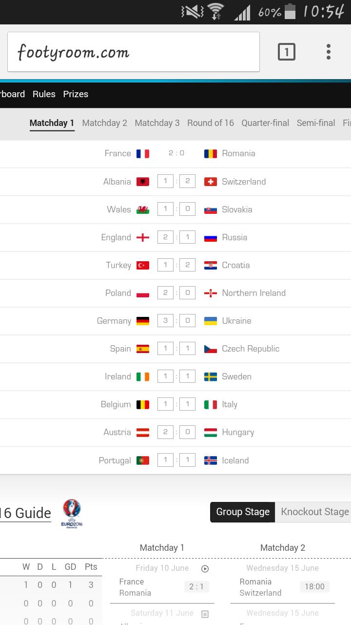 France 2-0 Rumania!