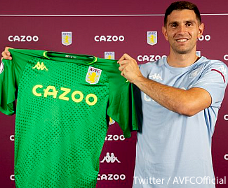 Aston Villa have signed goalkeeper Emiliano Martinez from Arsenal on a four-year deal.