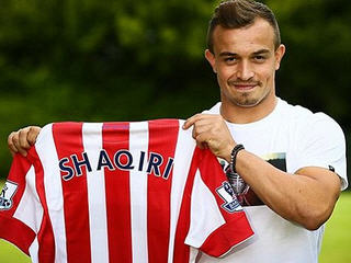 Stoke City complete club record £12m deal for Swiss international Xherdan Shaqiri.