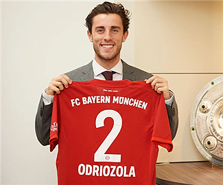 Bayern Munich have completed the signing of Real Madrid defender Alvaro Odriozola on a loan deal until the end of the season.