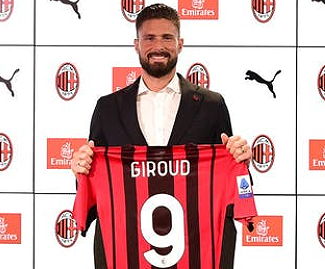 AC Milan have confirmed the signing of Chelsea striker Olivier Giroud. The Frenchman joins the clubs on a reported two-year deal.