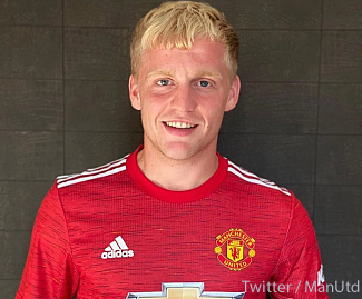Manchester United have signed Netherlands midfielder Donny van de Beek from Ajax for £35.7m, plus £5m in add-ons, on a five-year contract.
