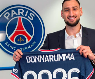 Paris Saint-Germain have announced the signing of Italy's Euro 2020 hero Gianluigi Donnarumma on a five-year deal.